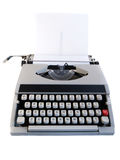 Portable Typewriter isolated on white Stock Images