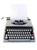 Portable Typewriter isolated on white stock images