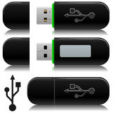 Portable usb flash  drive Stock Photography
