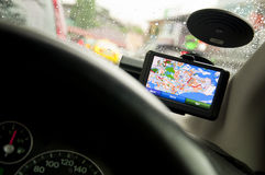 Portable In-vehicle GPS Navigation System (Ver2/2) Stock Photo