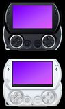 Portable video game console. In black and white Royalty Free Stock Photos