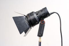 Portable Video Light. Low Voltage portable Tungsten lamp Stock Photography