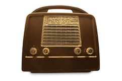 Portable vintage radio. From the fities Royalty Free Stock Photography