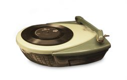 Portable vintage record player Royalty Free Stock Photo