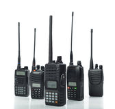 Portable walkie-talkie isolated Stock Photos