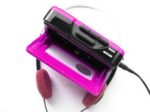 Portable walkman. Vintage portable personal stereo tape cassette player from the eighties Royalty Free Stock Photos