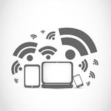 Portable wifi technology Royalty Free Stock Image