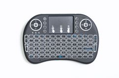 Portable wireless bluetooth keyboard Pad remote controller for computer and TV box Stock Images