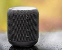 A Portable Wireless Bluetooth Speaker. stock images