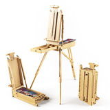 Portable wooden  easels Royalty Free Stock Image