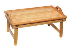 Portable wooden table Royalty Free Stock Image