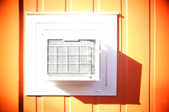 Portacabin with grille Stock Photos