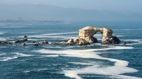 Portada & x28;Arch& x29; Rock Formation, Chile. Portada & x28;Arch& x29; Rock Formation, Chilean Coastline, La Portada National Reserve, Antofagasta Stock Image