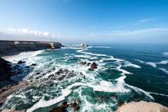Portada (Arch) Rock Formation, Chilean Coastline, La Portada Nat. Ional Reserve, Antofagasta, Chile Stock Image