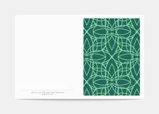 Portada de revista con los modelos geométricos Plantilla de la página de cubierta Fotografía de archivo libre de regalías