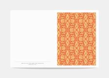 Portada de revista con los modelos geométricos Plantilla de la página de cubierta Imágenes de archivo libres de regalías