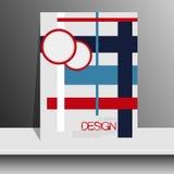 Portada de revista con los pedazos de papel coloreado para ilustración del vector