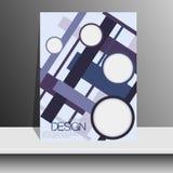 Portada de revista con los pedazos de papel coloreado para Fotos de archivo libres de regalías