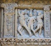Portada Principal at the Saint Thomas Church of Haro, La Rioja. 16th Century Principal Gate at the Church of Santo Tomas in Haro, La Rioja, Spain, detail Stock Images