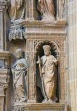 Portada Principal at the Saint Thomas Church of Haro, La Rioja. 16th Century Principal Gate at the Church of Santo Tomas in Haro, La Rioja, Spain - statues of Royalty Free Stock Photography