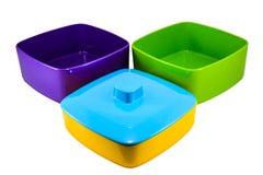 Portador colorido de la comida Fotos de archivo