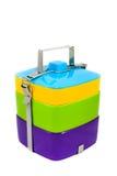 Portador colorido de la comida Foto de archivo libre de regalías
