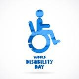 portador Día de la incapacidad del mundo libre illustration