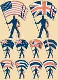 Portador de bandeira 2 Fotografia de Stock