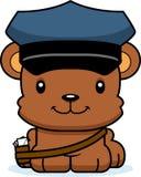 Portador de correio de sorriso Bear dos desenhos animados ilustração stock