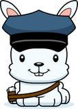 Portador de correio de sorriso Bunny dos desenhos animados ilustração do vetor