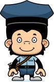 Portador de correio de sorriso Chimpanzee dos desenhos animados ilustração royalty free