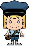 Portador de correio de sorriso Girl dos desenhos animados ilustração royalty free