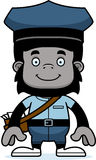Portador de correio de sorriso Gorilla dos desenhos animados ilustração royalty free
