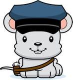 Portador de correio de sorriso Mouse dos desenhos animados ilustração stock