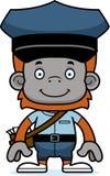 Portador de correio de sorriso Orangutan dos desenhos animados Fotos de Stock