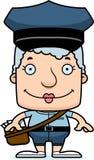 Portador de correio de sorriso Woman dos desenhos animados ilustração do vetor