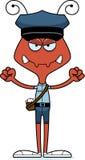 Portador de correio irritado Ant dos desenhos animados ilustração royalty free
