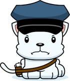 Portador de correio irritado Kitten dos desenhos animados ilustração do vetor