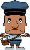 Portador de correio irritado Man dos desenhos animados ilustração do vetor