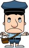 Portador de correio irritado Man dos desenhos animados ilustração stock
