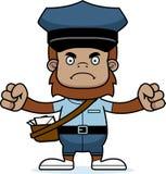 Portador de correio irritado Sasquatch dos desenhos animados ilustração do vetor