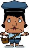 Portador de correio irritado Woman dos desenhos animados ilustração royalty free