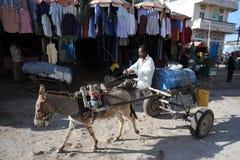 Portador de água na rua Hargeisa Imagem de Stock