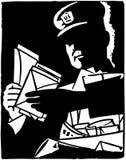 Portador de letra stock de ilustración