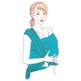 Portador del abrigo del bebé stock de ilustración