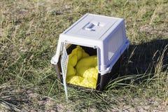 Portador del animal doméstico para viajar Imagen de archivo