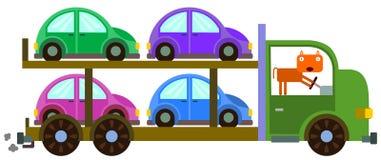 Portador del coche del gato stock de ilustración