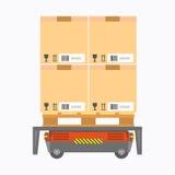 Portador eléctrico de la caja stock de ilustración