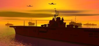 Portador en el mar Fotografía de archivo