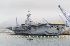 Portador nuclear militar francês imagem de stock royalty free